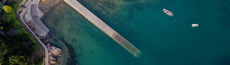 Port de l'ile de Bréhat à marée montante